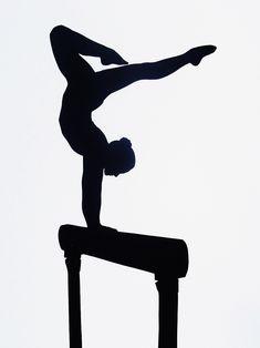 Custom Full Body Silhouette Gymnastics (not a print)