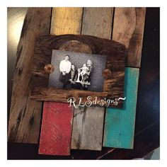 Rustic Reclaimed Disstressed Multi Color Barnwood Picture Frame 5x7 Or 4x6