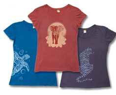 WWF T shirts!  http://gifts.worldwildlife.org/gift-center/gifts/Apparel-and-More/Graphic-Tees.aspx
