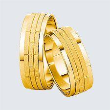 Verighete din aur galben cu design modern. Pot fi realizate din aur alb, aur galben sau aur roz. La cerere sunt posibile şi alte modificări. Aur, Slim, Modern, Design, Wedding Ring Set, Rings, Trendy Tree