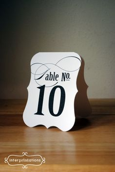 & Wedding Wine Bottle Table Numbers Contemporary Classic Set of 12
