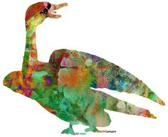Goose Watercolor 11x14 Art Print by whimsicalgallery on Etsy