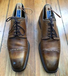 0f1243ea578 CAZOLERIA HARRIS Barneys NY Brown Burnished Cap Toe Bluchers 8.5  595 ITALY   fashion  clothing  shoes  accessories  mensshoes  dressshoes (ebay link)
