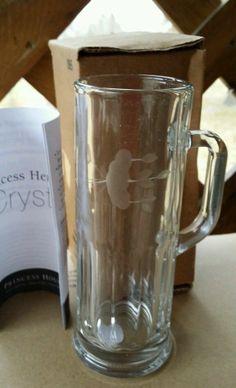 Princess House Crystal Heritage mini mug set -2 NIB RARE!!!