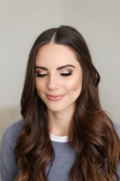 soft gold smokey eye - lovely wedding makeup look
