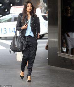 Jessica Gomes arrives at David Jones ahead of fashion parade - Celebrity Fashion Trends