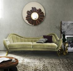 Contemporary living ideas at Maison&Objet Paris 2014 Velvet Furniture, Sofa Furniture, Luxury Furniture, Small Furniture, Furniture Ideas, Sofa Design, Living Room Sofa, Living Room Decor, Living Area