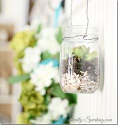 Mason Jar Planter - Mason Jar Crafts Love