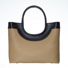 Two tone tote handbag Tote Handbags, Leather Handbags, Leather Texture, Dust Bag, Pouch, Tote Bag, Shoulder, Stylish, Casual
