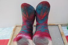How to make felted boots/slippers using a duct tape last.