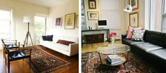 A Winning Trifecta: Leather, Mid-Century Modern and Oriental Rugs | Apartment Therapy