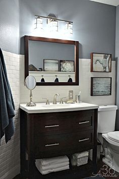 Modern Bathroom Makeover by the36thavenue.com