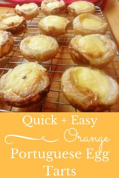 Quick and Easy Portuguese Egg Tarts Recipe Portuguese Egg Tart, Portuguese Recipes, Tarts Recipe, Custard Tart, Gbbo, Tea Parties, Soul Food, Sweet Treats, Foods
