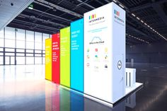 Intermedia custom build exhibition stand on behance for Arquitectura y diseno stands 8 pdf