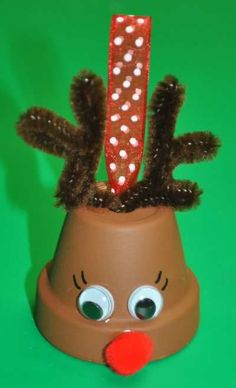 #Flower pot #reindeer #bell