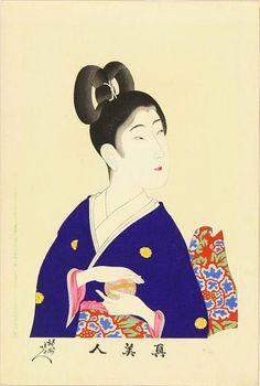 Toyohara Chikanobu - A Beauty Holding A Ball (1897)