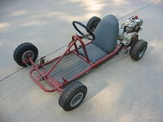 Vintage Go Kart with 3.5 HP motor on eBay.  This is a 1960's era go kart in good condition.  The seat is in very good shape since this kart was stored indoors.  Check out our listing on eBay to learn more about this kart.  Thanks!
