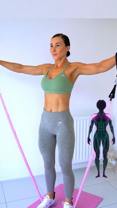 Fitness Workouts, Gym Workout Videos, Abs Workout Routines, Gym Workout For Beginners, Fitness Workout For Women, Pilates Workout, At Home Workouts, Cable Workout, Band Workout