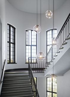 #oscarproperties stockholm bryggeriet, stairs, lamps, windows, marble, stone