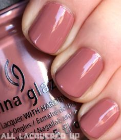 dusty rose colored nails - bridesmaid