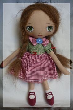 Lila  cloth art doll by LilaUp on Etsy, €125.00