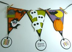 LOVE this little DIY Halloween bunting/banner!