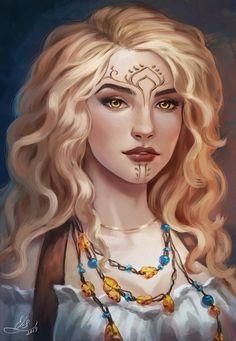 Portrait of my Original Character — female-elf ranger Reneya Fileasson Female Character Inspiration, Fantasy Character Design, Fantasy Inspiration, Character Concept, Character Art, Character Sketches, Concept Art, Girls Characters, Dnd Characters