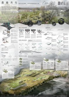 ◆作品名稱:雞農共生 ◆作者名稱:輔仁大學 -顧昊宸、葉翰蓉 Concept Board Architecture, Architecture Presentation Board, Paper Architecture, Architecture Graphics, Architecture Portfolio, Rendering Architecture, Architecture Diagrams, Architectural Presentation, Architectural Models