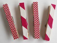 Easy DIY washi tape clothespins - www.creativity52.com