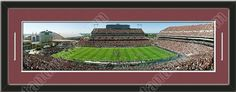 This framed large Texas A University stadium panoramic, double matted in team colors to 39 x 13.5 inches.  The lines show the bottom mat color. $129.99             @ ArtandMore.com