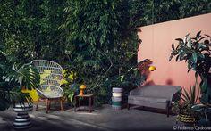Piccoli living e grande comfort, per un rientro in città super soft immersi in una lussureggiante vegetazione tropicale tra quinte che reinterpretano le tonalità di Luis BarragànSmall living areas and great comfort,for a super gentle return to the city,…