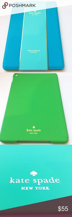 New Aqua Kate Spade Bifold Hardcase for IPad Air 2 Kate Spade Outfit your iPad Air 2 and surf the web in style with the kate spade new york folio hardshell case. The sleek, lightweight folio features our chic signature prints and premium Saffiano vegan leather cover. With a protective hardshell frame and multiple viewing modes, the case is the perfect travel-friendly accessory. kate spade Accessories Laptop Cases