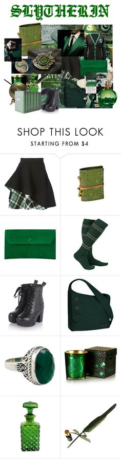 """""""SLYTHERIN"""" by li-directioner on Polyvore featuring Alexander McQueen, L.K.Bennett, OGIO, NOVICA and Cire Trudon"""