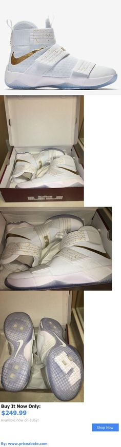 Basketball: Nike Lebron Soldier 10 White Gold Metallic Shoes Basketball 883333 174 Sfg 13 BUY IT NOW ONLY: $249.99 #priceabateBasketball OR #priceabate