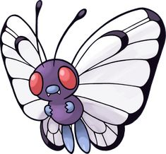 Butterfree Pokemon Go is a Bug/Flying Type Pokemon. Butterfree Pokemon Go has a superior ability to search for delicious honey from flowers. Pokemon Tv, Pokemon Pokedex, Pokemon Fire Red, All 151 Pokemon, Pichu Pokemon, Flying Type Pokemon, Pokemon Cakes, Pokemon Original, Photo Pokémon