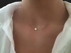 Collier or.30 carats de diamant solitaire par cestsla sur Etsy
