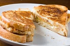 Fried Green Tomato Grilled Cheese with pepper jack by katieshan50