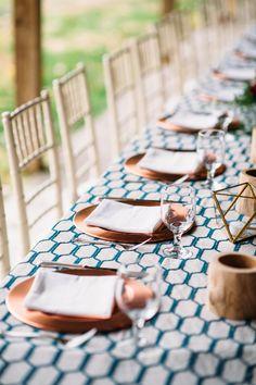 copper table settings