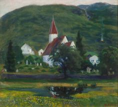 Nikolai Astrup is one of Norway's most renowned and beloved artists, known for his wild and lush landscapes and depictions of traditional life in his home country. Now, for the first time ever, his work. Norway Viking, Gustave Courbet, French History, European Paintings, Old Master, Master Art, Modern Artists, Cool Landscapes, Art World