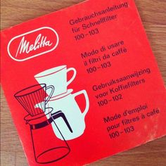 Vintage Melitta catalogue (Made in West Germany)