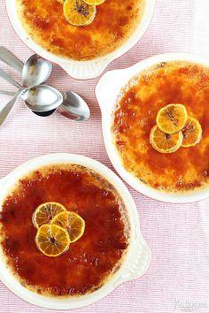 crème brûlée s vôňou pomarančov