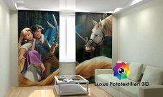 """Fotogardine """"Frozen Eiskönigin ELSA ANNA"""" Foto-Vorhang in Luxus Fotodruck 3D bei ebay.de kaufen"""