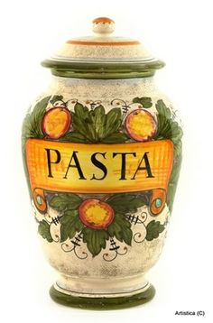 RUSTICA Pasta Canister  Love this style and colors, size...