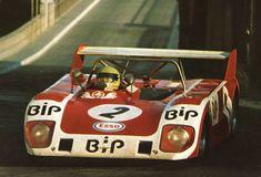 Carlos Gaspar, Lola T292, Team BIP (Banco Intercontinental Português), Vila Real, Campeonato de España de Conductores de Velocidad en Circuito para Vehiculos de Gran Turismo-Sport, Portugal, 1973 (winner). Tags: portuguese portugal bank