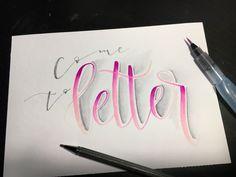 Handlettering - come to letter (Letter Lovers herzimbauch)