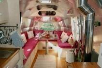 Airstream Caravan luxury redo by professional cabinet makers.