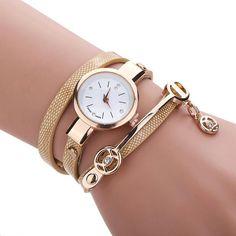 Shop styledrestyled.com  Gold watch bracelet with charm #goldwatch