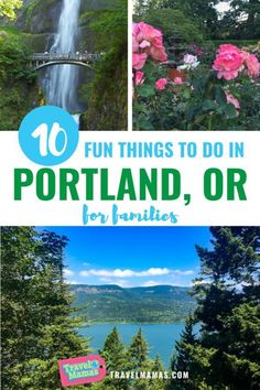 Seeking outdoor adventures and city sites in Portland Oregon? These 10 fun family activities will please all ages during a Portland OR vacation! From hiking and rose gardens to funky doughnuts and beyond Portland makes a great family vacation destination. #portland #oregon #travelwithkids #usdestinations #us #destinations #top #us #destinations