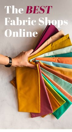 Suzyquilts.com has put together a list of the best online fabric stores! Includes shops in the USA, UK, Canada and Australia. #fabricstore #quiltfabric #quilting Simple Embroidery Designs, Hand Embroidery Patterns Free, Machine Embroidery Projects, Embroidery Fabric, Sewing Hacks, Sewing Crafts, Sewing Projects, Fabric Crafts, Farm Projects
