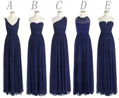 navy blue bridesmaid dresses long bridesmaid dress by Yesdresses I want these in green. Molly what do you think of D?
